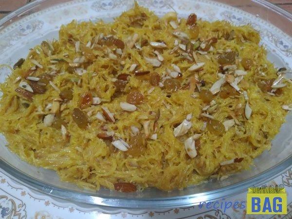 Sweet vermicelli dessert/ Sewiyon ka meetha recipe