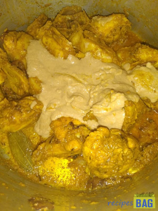 Add the prepared masala and mix well.