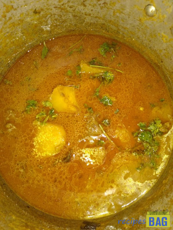 Finally add the lemon juice and the rest of the green chilies, coriander, and mint leaves. Switch off the flame. That's it, Mutton korma is ready to be served.